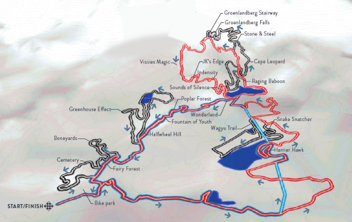 Oak valley Mountain Bike Trail Map